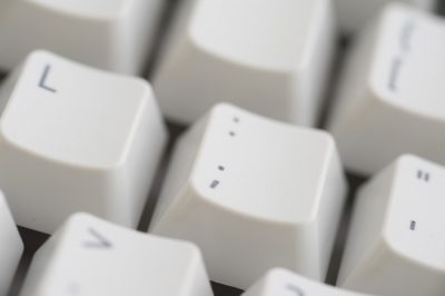 punctuation keys on a computer keyboard
